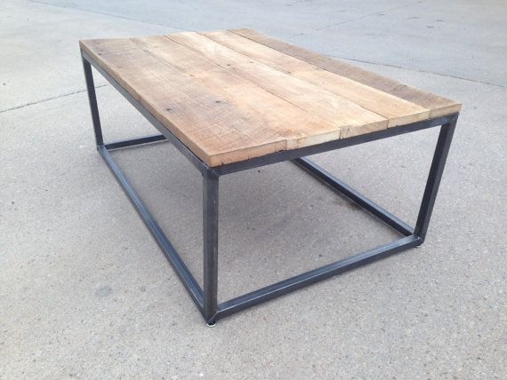 Reclaimed Wood and Steel Coffee Table by PHweld on Etsy, $550.00