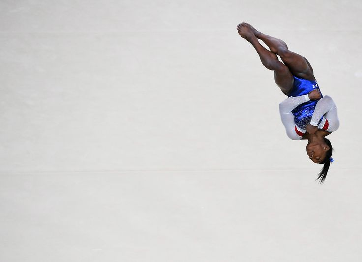 RIO DE JANEIRO, BRAZIL - AUGUST 11: Simone Biles of the United States competes on the floor during the Women's Individual All Around Final on Day 6 of the 2016 Rio Olympics at Rio Olympic Arena on August 11, 2016 in Rio de Janeiro, Brazil. (Photo by Pascal Le Segretain/Getty Images)