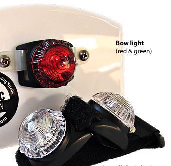 ARCNAV Rowing - Canoe - Kayak Lights * Small Boat Navigation Safety Lights for Bow and Stern