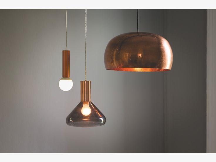 MARTEAU METALLIC Metal Copper coated brass ceiling light - HabitatUK