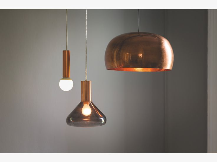 MARTEAU METALLIC Metal Copper coated brass ceiling light - HabitatUK