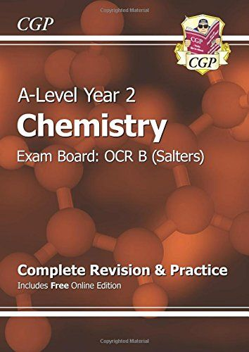 From 6.00 New A-level Chemistry: Ocr B Year 2 Complete Revision & Practice With Online Edition