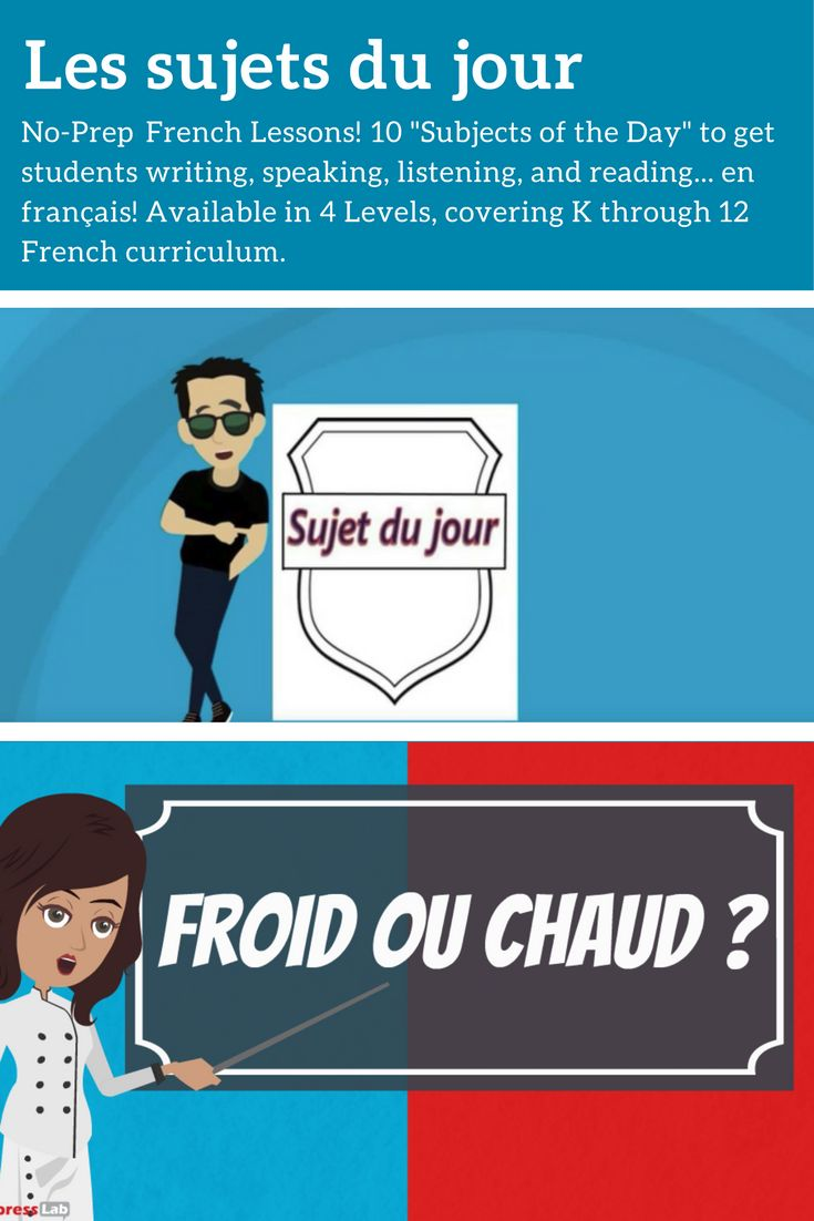 No-Prep French Lessons!  Get students speaking, writing, listening and reading... en français!