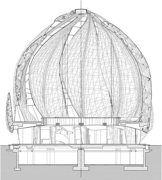 bolla – Temple Santiago Bahá'i (2016) – Hariri Pontarini Architects, chili (Sudamerica)   Bubblemania