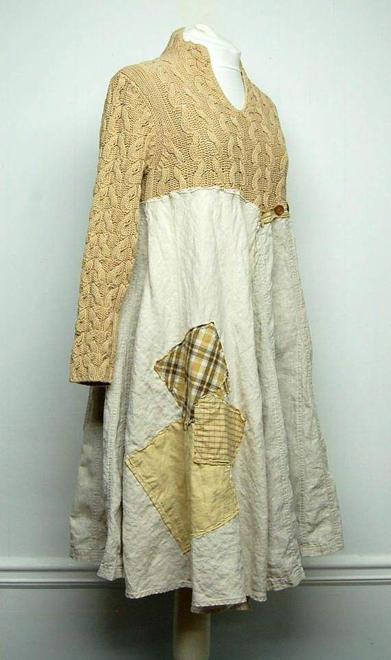 Shabby Chic Dress Mori Girl Dress Linen Dress Boho Chic