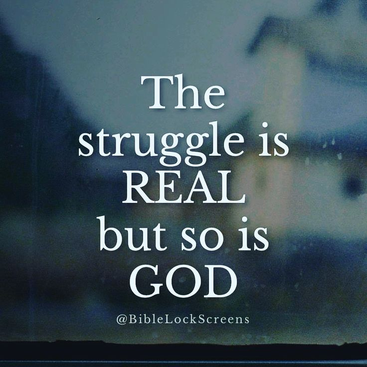 "The struggle is real but so is God!  We can fight the struggles and rise above trials when we are with God! Let's continue clinging on to Him.   You can do all things through CHRIST who gives you strength. (Philippians 4:13)   ""Do not worry about anything but in everything by prayer and petition, with thanksgiving, let your requests be know to God. And the peace of God, which surpasses all understanding, will guard your hearts and minds in Christ Jesus"" (Philippians 4:6-7).  #Pray #Jesus…"