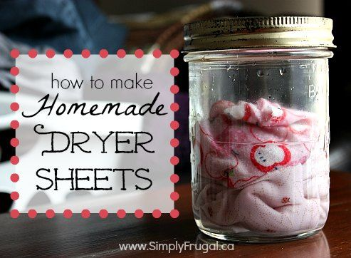 How to make homemade dryer sheets without using chemicals