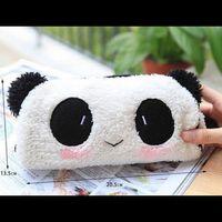 Fluffy Panda Pencil case !!
