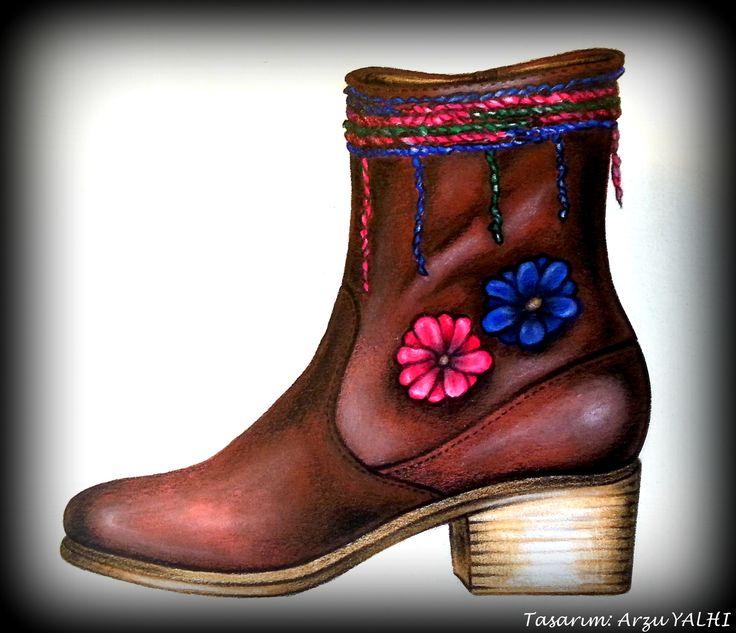 Facebook: ARZU YALHI Drawing Your Shoes/ www.arzuyalhi.com/ Instagram: arzuyalhi