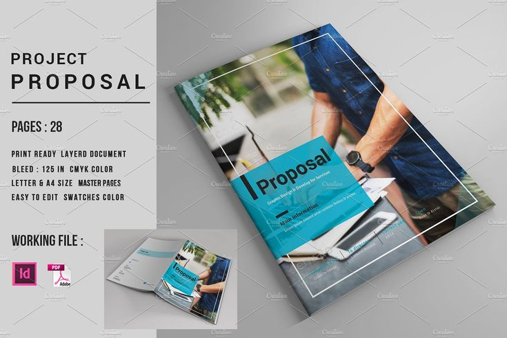 InDesign Business Proposal-V560 by Template Shop on @creativemarket