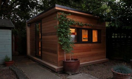 in.it.studios' Prefab Garden Office Spaces Let You Work From Your Backyard
