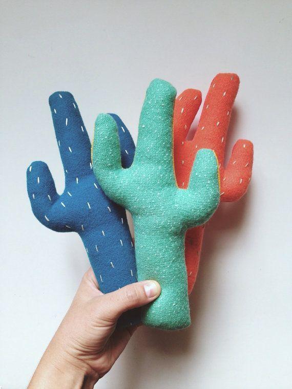 Plush Cactus, stuffed toy cactus, cat toy, catnip toy, southwestern decor, toy plant, Two Tone Plush Cactus by Sleepy King