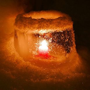 Ice lanterns are big in Finland.   22 Ways Finland Wins Christmas