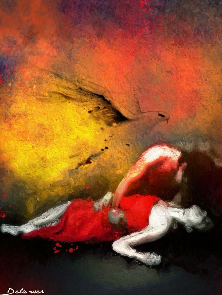 Together Tell The Death Beautiful Emotional Oil Paintings Abstract Illustration Art Fine