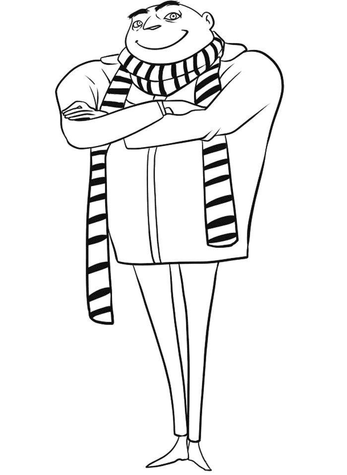 Minions Tegninger til Farvelægning. Printbare Farvelægning for børn. Tegninger til udskriv og farve nº 10