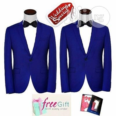 Wedding Special Smart Suit - Royal Blue - 2 Pairs for sale in Lagos   Buy Wedding Wear from John Paul on Jiji.ng