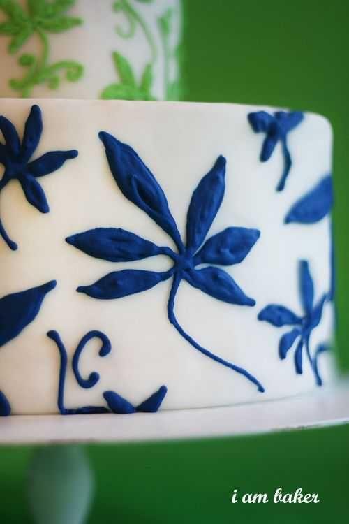 MODERN FABULOUS BLUE AND GREEN #WEDDING #CAKE