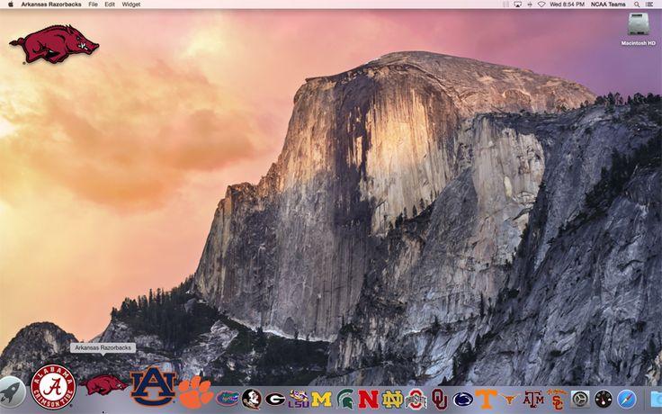 FRONT of the 2016 Arkansas Razorbacks Schedule Mac App on your desktop  http://2thumbzmac.com/teamPages/Arkansas_Razorbacks.htm