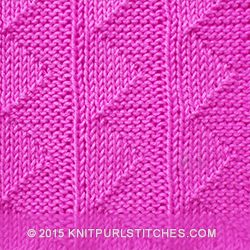 As with many knit/purl patterns this one, too, is double sided! That would le...