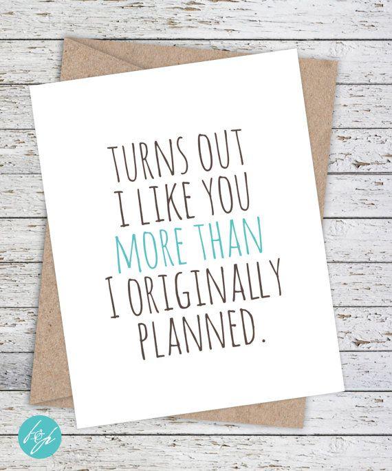 I Love You Card Boyfriend Card Awkward Card Snarky Card: 25+ Unique Boyfriend Card Ideas On Pinterest