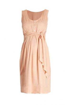 Una Maternity and Nursing Summer Dress Peach