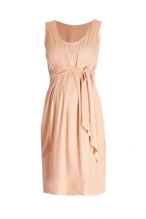 Una Maternity and Nursing Summer Dress Peach: