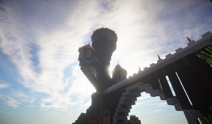 Minatoriunti, il castello del mondo città, dove potete creare la vostra città e dominare il server.
