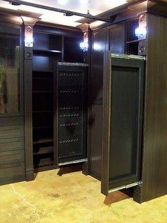 Jewelry storage hidden in moulding