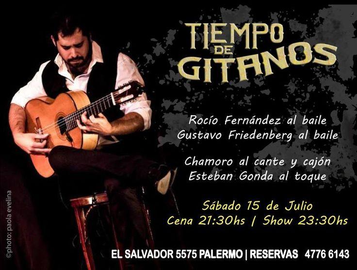 Vení este Sábado a vivir una nueva noche de Flamenco Vivo!!! Solo con previa reserva llamando al 4776 6143