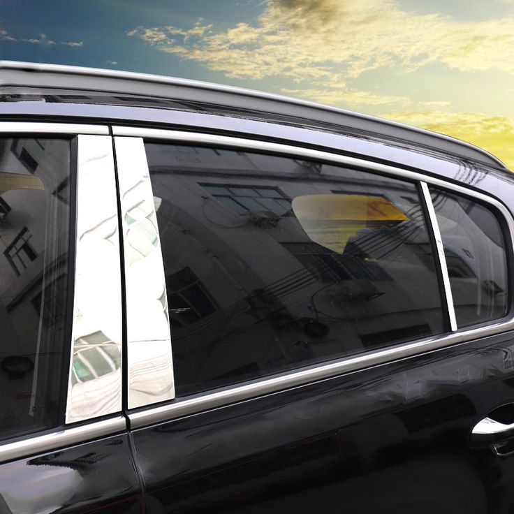 FIT FOR 2016 2017 KIA SPORTAGE QL WINDOW CHROME PILLAR POST POSTS COVER TRIM MOLDING BEZEL GARNISH ACCENT STAINLESS STEEL