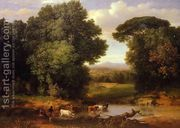 A Bit Of Roman Aqueduct  by George Inness