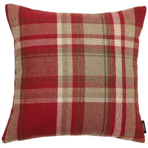 Luxury Tartan Check Dining Garden Seat Pads Chair Cushion Zipped Removable Cover