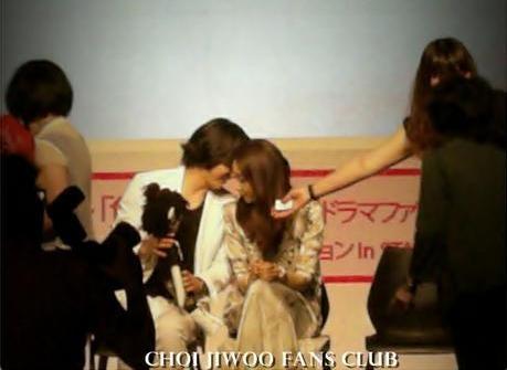 Yoon Sang Hyun and Choi Ji Woo in the K-drama CL fan meeting in Japan.