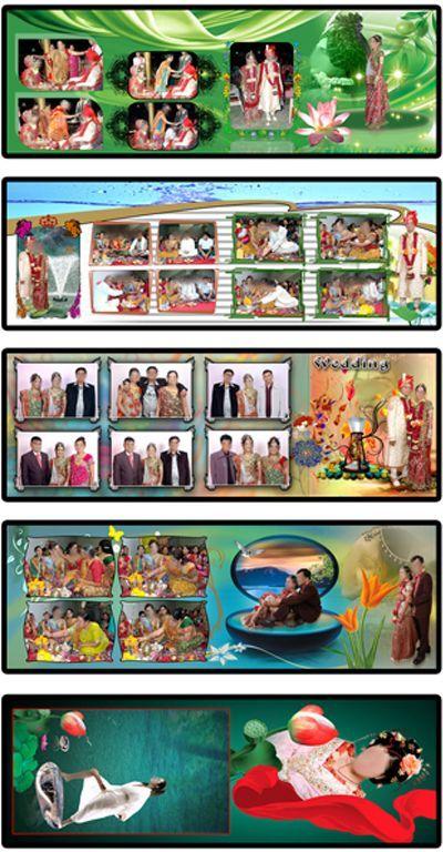 20 Indian Wedding Album Design Templates 12x36 Download
