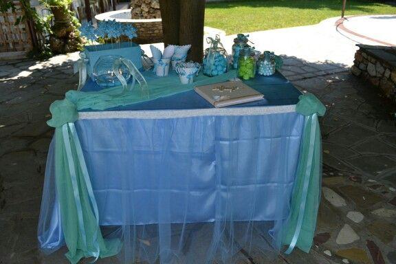 Τραπέζι ευχών βάφτισης