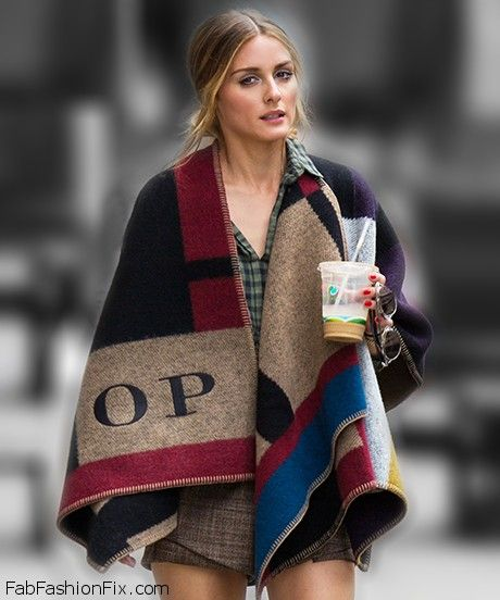 Olivia Palermo street style with Burberry cape. #oliviapalermo