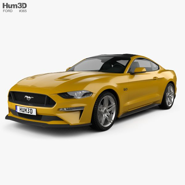 3d Model Of Ford Mustang Gt Eu Spec Coupe 2018 Mustang Gt Ford Mustang Gt Ford Mustang