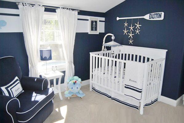 quarto de bebê marinheiro