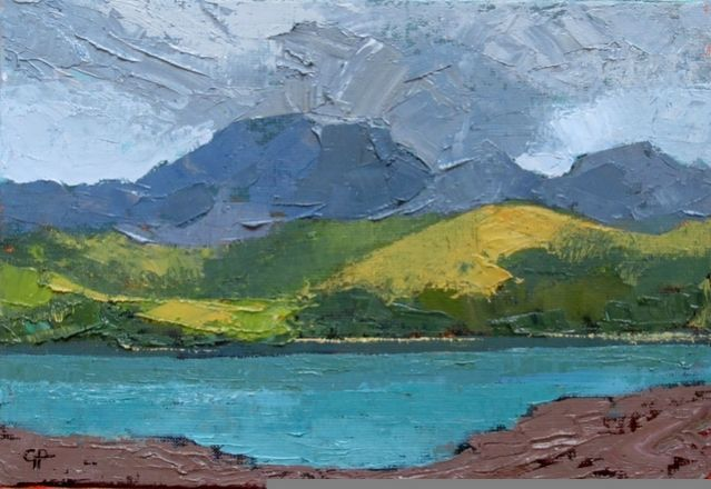Y Moelwyn Gwilym Prichard RCA - born in Llanystumdwy, near Criccieth, in 1931. He trained at Birmingham College of Art, then taught in Anglesey until 1973. He has been a full time artist ever since, and is now the senior figure in Welsh landscape painting and one of Wales' most admired and successful artists.