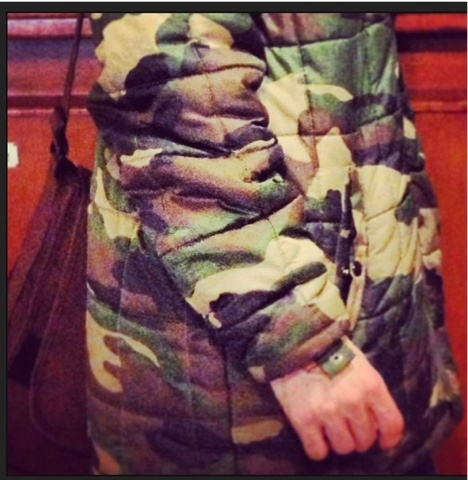 THE LOOK AFTER: Seen around: camo look