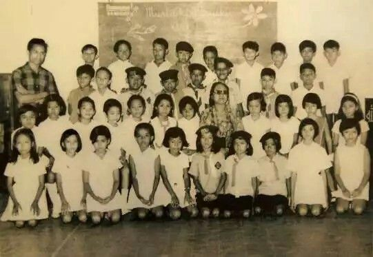 UNTIL BARACK OBAMA WAS 10 YEARS OLD HE ATTENDED THE LOCAL INDONESIAN LANGUAGE SCHOOL. HE IS 2ND ROW FROM TOP...3RD TO THE RIGHT. HE LIVED IN INDONESIA WITH HIS MOTHER ANN, STEPFATHER LOLO SOETORO & HALF SISTER MAYA.