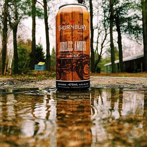 Stormy day made better with a @thornburycider Jubilee Amber lager 🍺⚡️😎