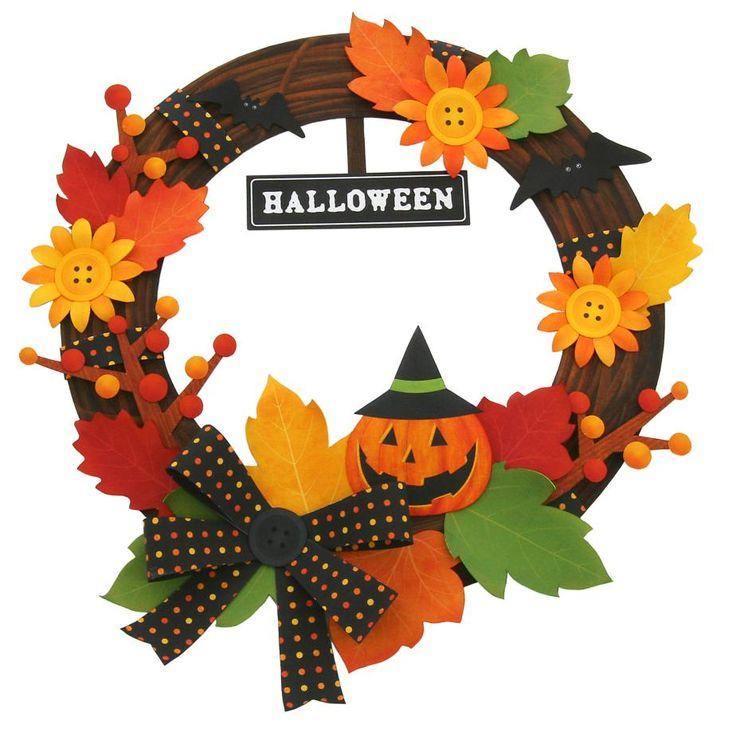 無料で簡単にハロウィングッズ✨が出来ちゃいます!今年は自分で作って飾りつけ楽しも〜♪✨玄関に飾っても秋を感じさせていいですよ〜