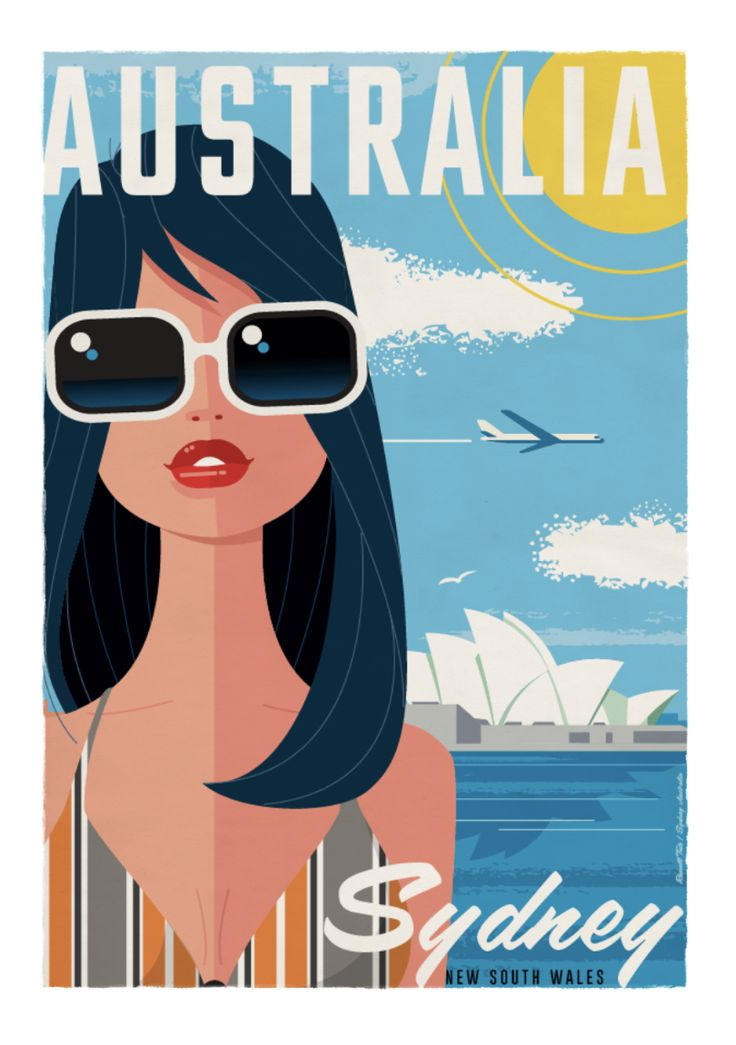 Sydney Opera House Travel poster 70 x 100cm available from: info@russelltate.com #russelltate