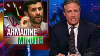 Ahmadine Minute - No Gays | Iranian president Mahmoud Ahmadinejad claims there are no homosexuals in Iran, just like there no gay conservatives in the US.
