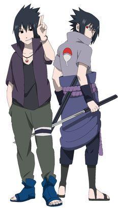 Sasuke VS Sasuke Road to Ninja - Lineart colored by DennisStelly on deviantART