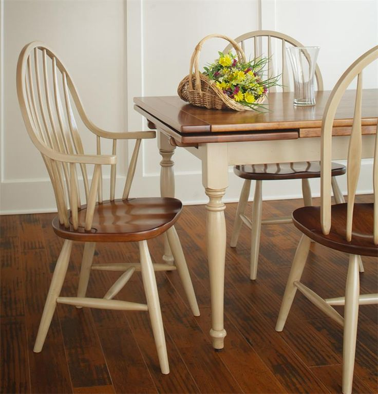Amish Made Dining Room Tables: Amish Farmhouse Stowleaf Draw Extension Dining Table