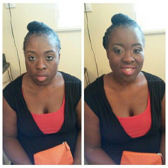 Jessica santos makeup before & after