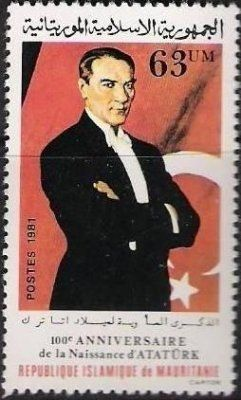 Mauratania Stamp for Ataturk's 100th birthday