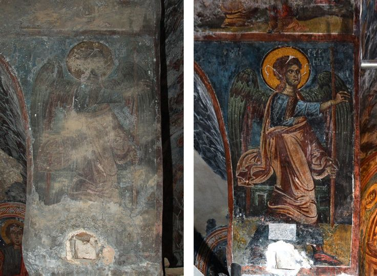 Wallpainting Conservation in St. Peter's Church in Mani